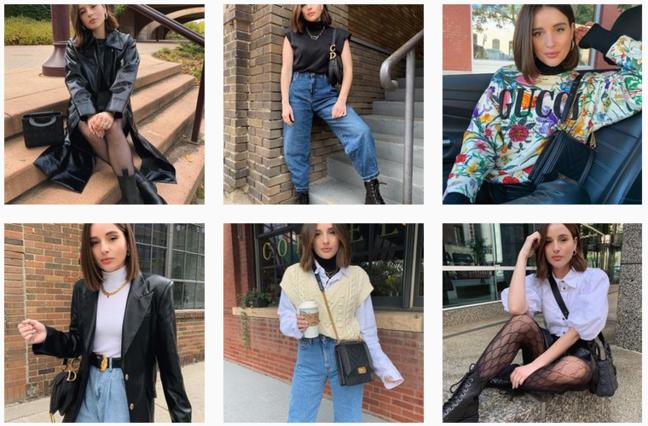 La mode sur Instagram