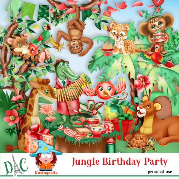 Jungle Birthday party by Kastagnette
