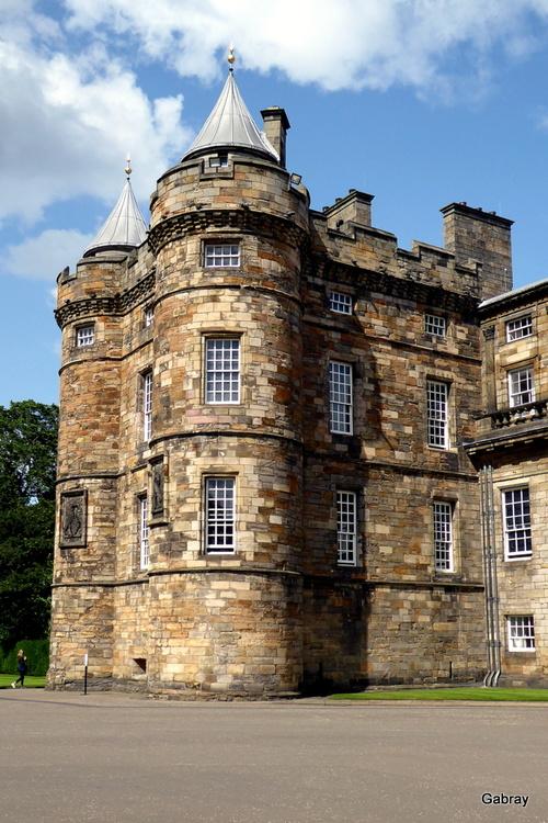 Édimbourg: le palais de Holyrood...