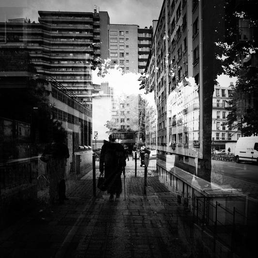 déambulation dans la ville