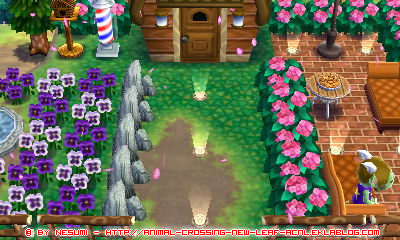 [photos] quelques photos de mes créations dans Animal Crossing Happy Home Designer