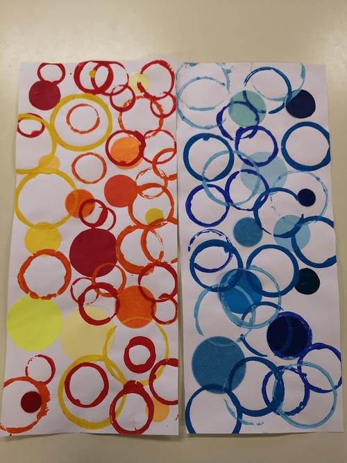 S2: Les empreintes et collages de ronds façon Ricki Mountain