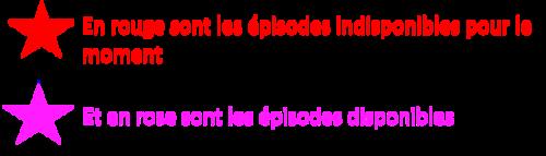 épisode de la saison 1