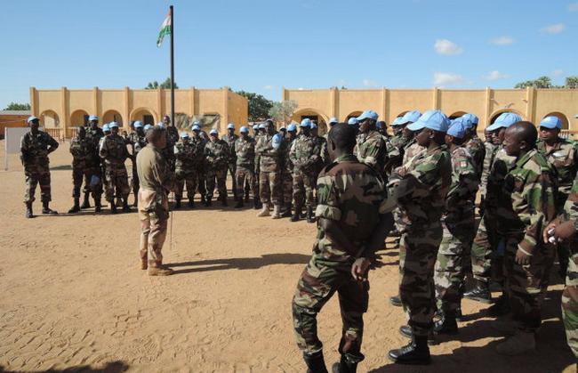 Le contingent guinéens à Kidal