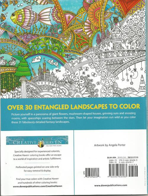DOMANDALAS  album de coloriages entangled landscapes d'angela Porter