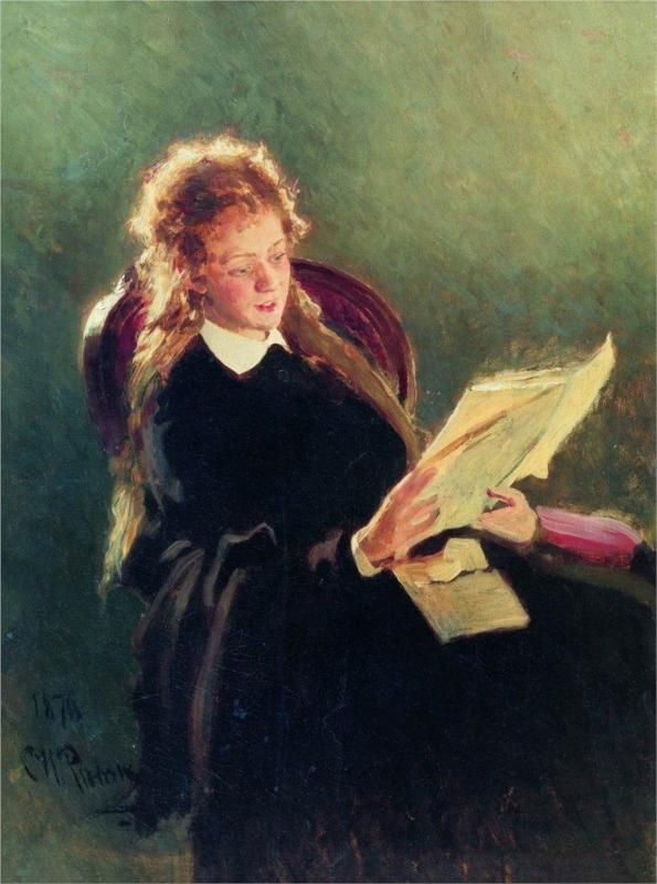 Reading girl - Ilya Repin