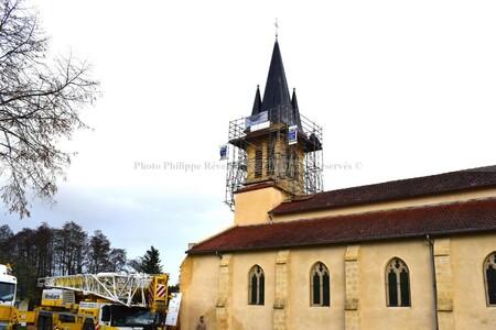 L'Eglise de Ychoux (Phase 2 : Repose de la flèche)