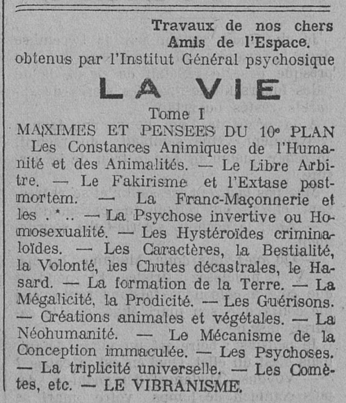 (Paul) Pillault, (Jules) Jésupret, (Jean) Béziat - La Vie (1909)