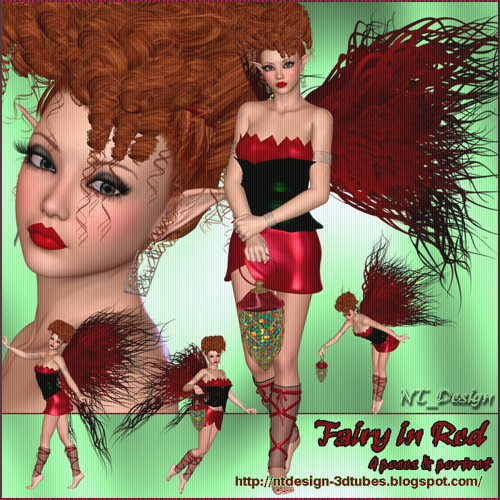 3d Fairy in Red
