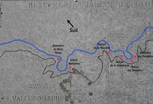 Les Gorges de l'Ardèche (partie Est)