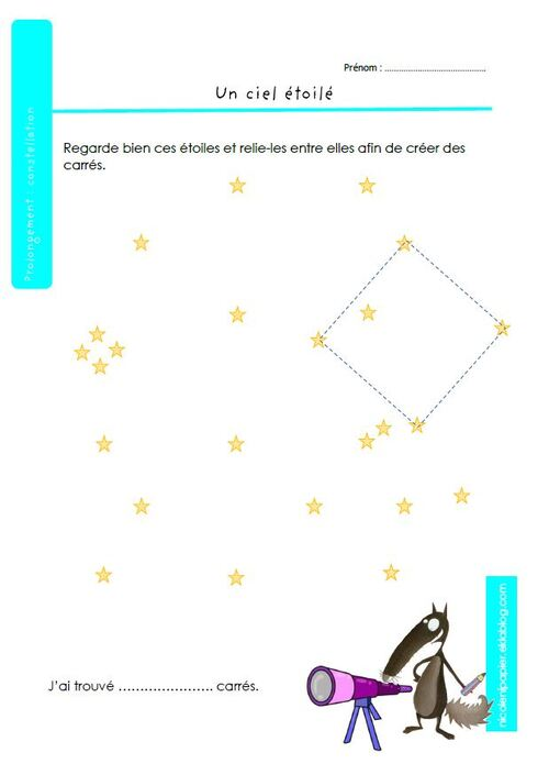 prolongement : les constellations