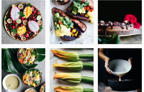 La nourriture sur Instagram