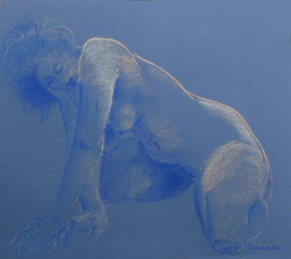 Vendredi - Dans mes archives : Nu en bleu