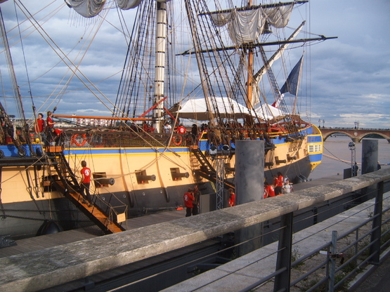 l'Hermione à Bordeaux 1er Episode.