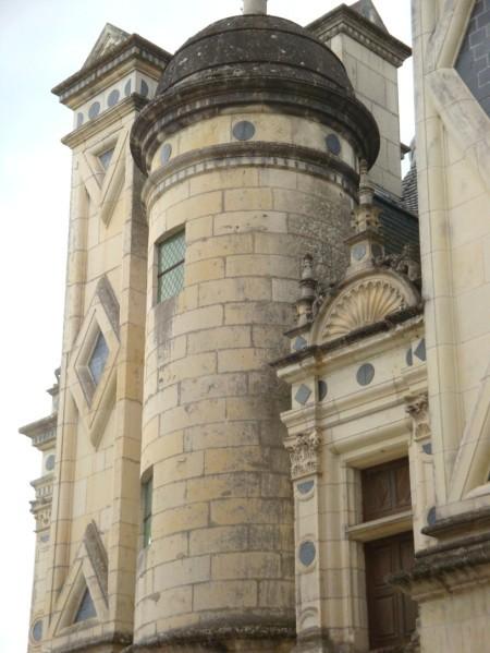 Chambord, les terrasses du château.9f