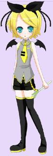 Rin (dans habiller Miku Vocaloid)