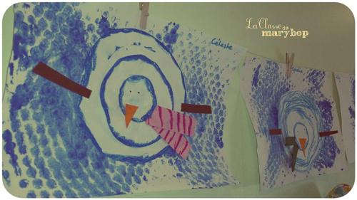 Arts visuels : Bonhomme de neige.