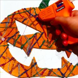 Citrouille et colle 3D