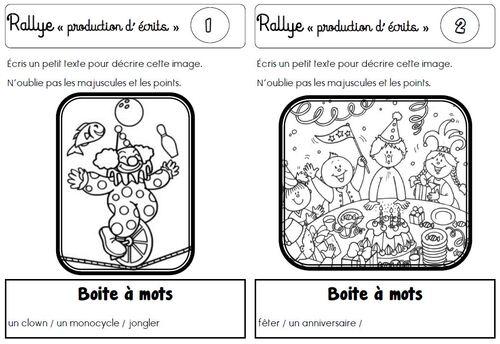 "Rallye ""productions d'écrits"" CP"