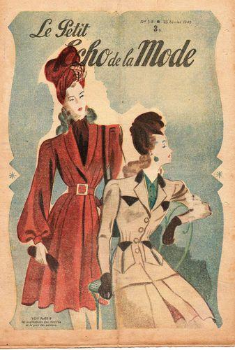 revue le petit ECHO DE LA MODE n°5-8 année 1945, février: