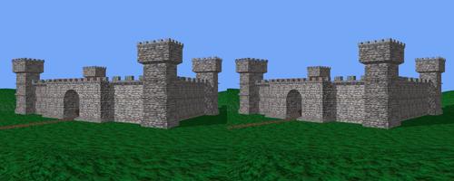 Le château en stéréo