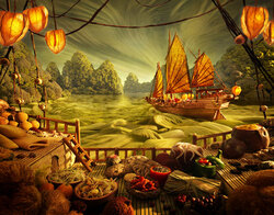 "carl warner et les ""paysages gourmands"" ou foodscapes"