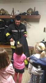 Visite de la caserne des pompiers d'Aigre.