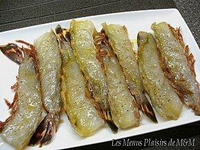 Crevettes beurre basilic 2
