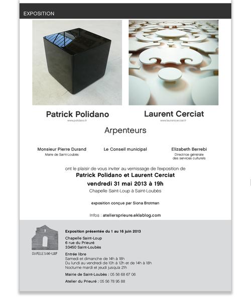 Exposition#9 Patrick Polidano/Laurent Cerciat : Arpenteurs
