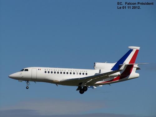 Atterrissage Boeing 767 (1er Ministre Netanyahu) à Blagnac (31) Le 01 12 2012 à 13h12.