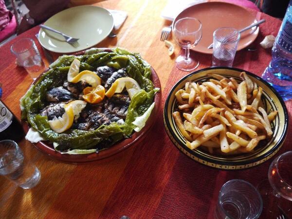 Sardines et frites