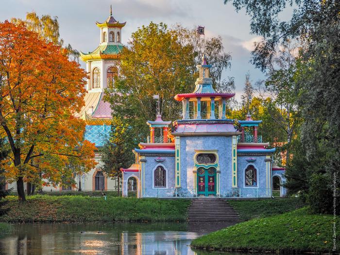 Promenade dans la résidence impériale Pouchkine à Saint-Pétersbourg