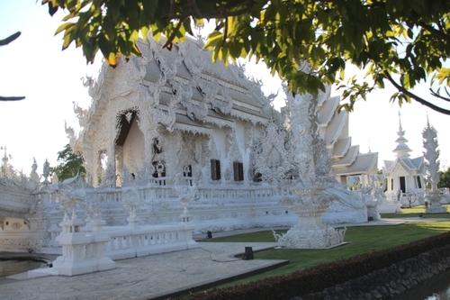 Le temple blanc à Chang Rai (Thaïlande)