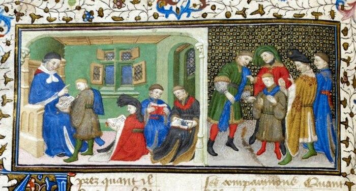L'enseignement supérieur dans une église épiscopale au Moyen Âge