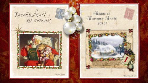 Fond d'Ecran Noël 2014 et Nouvel An 2015