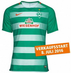 Nouveau Maillot de foot Werder Bremen 2016 2017