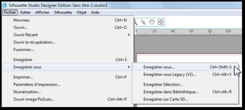 Tuto rapido : Enregistrer un fichier du Silhouette Designer Store et son image