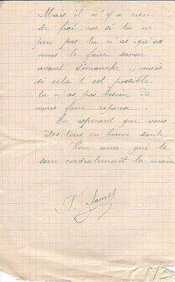 Sauret à Claude Desnier
