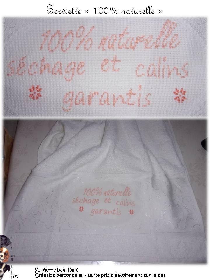 "Serviette ""100% naturelle"""