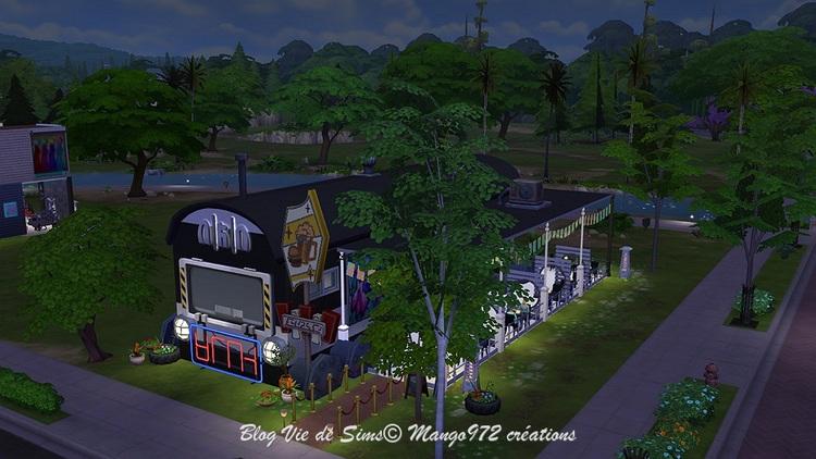 Les  Sims 4: Le Wagon restaurant