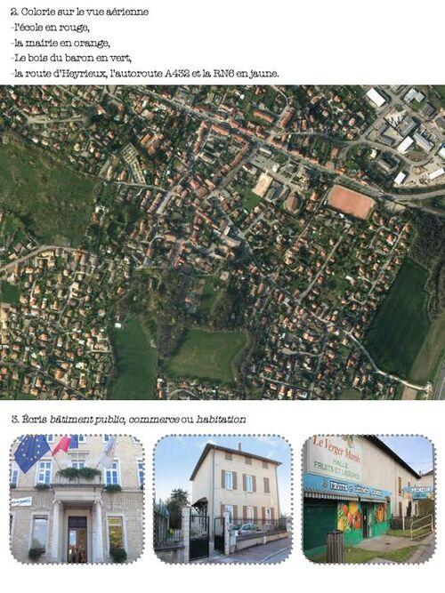 évaluation de structuration de l'espace, le quartier, la commune - ce1 ce2