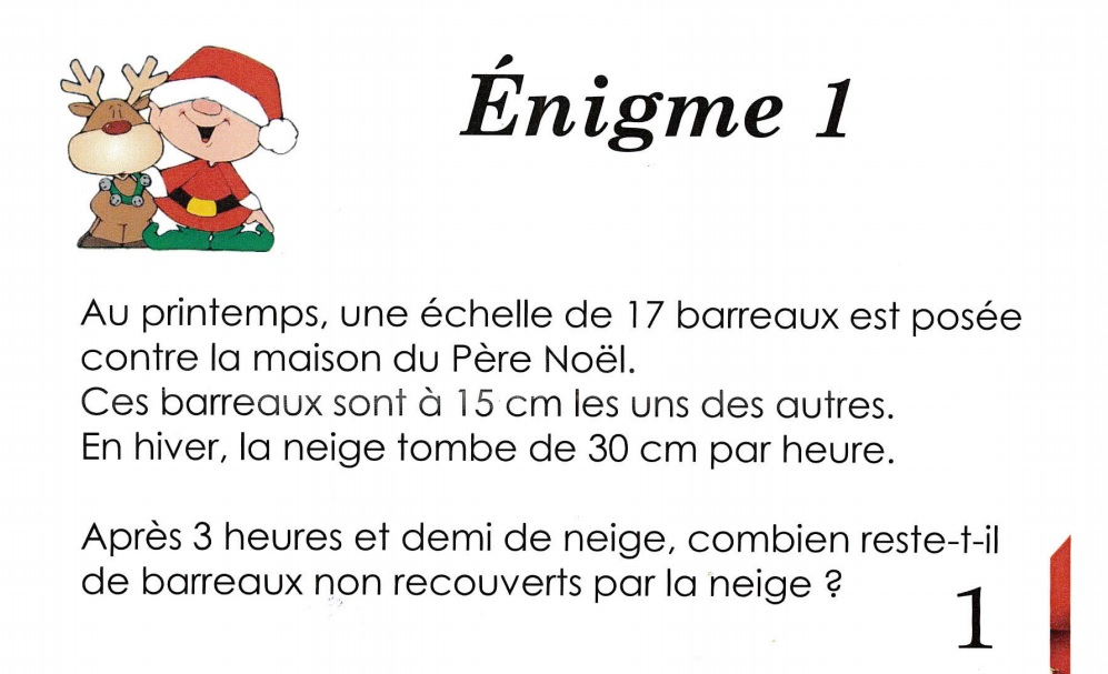 Calendrier De Lavent Cm.Enigmes Du Calendrier De L Avent Ecole Saint Vincent Sizun
