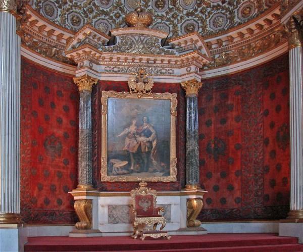 Saint Pétersbourg, Emitage , trône