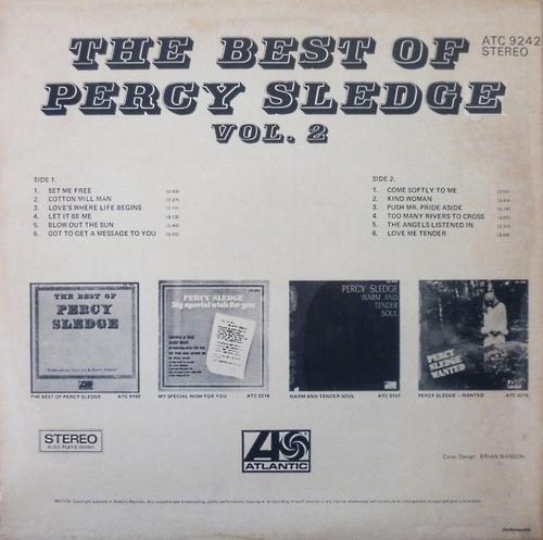 "Percy Sledge : Album "" The Best Of Percy Sledge Volume 2 "" Atlantic Records ATC 9242 [ ZA ]"