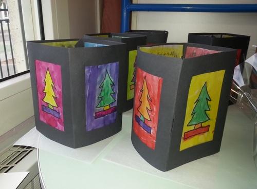 Lanternes de Noël toujours à la manière de Warhol