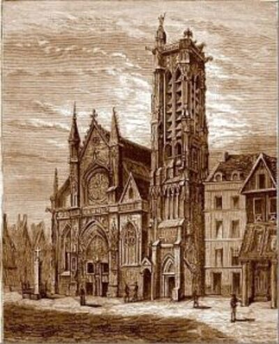 La tour Saint-Jacques ( Paris  IV )