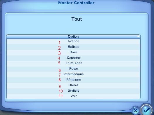 Master Controller - Sims 3 - Aide en tout genre