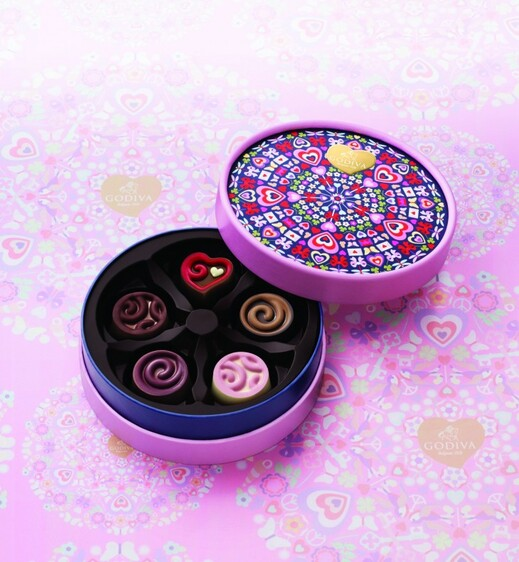 La collection Kaléidoscope of Love pour la Saint Valentin 2015 chez votre chocolatier Godiva à Montpellier