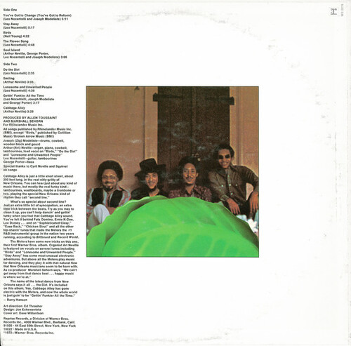 "The Meters : Album "" Cabbage Alley "" Reprise Records MS 2076 [ US ]"