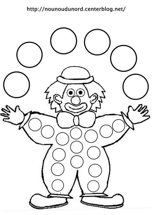 Coloriage clown le blog de kikyne - Coloriage clown a imprimer ...